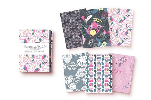 Mini Notecard Set - Pink & Grey