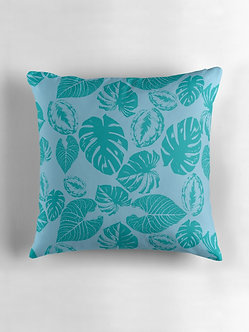 Safari Leaves Cushion in Turquoise