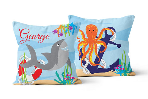 Ocean Creatures Personalised Cushion