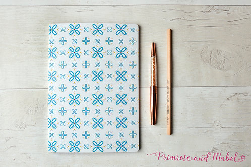 A5 Geometric Patterned Plain Page Notebook