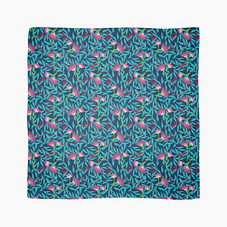 Tropical Blooms Scarf in Navy