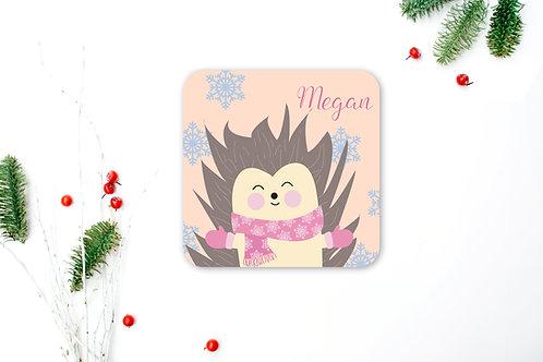 Hedgehog Personalised Coaster