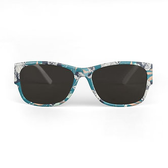 Stars and Stripes Sunglasses in Teal
