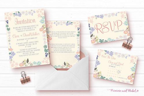 Vintage Floral Wedding Stationery