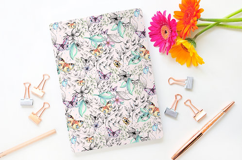 A5 Butterflies Lined Page Notebook