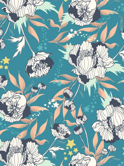 Surface Pattern Design Floral Textile Design Fabric UK