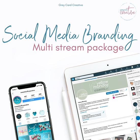 Multi Stream Social Media Branding Package