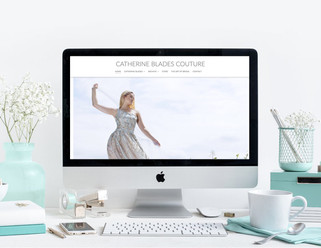 Catherine Blades Couture   Website & Promotional Brochure
