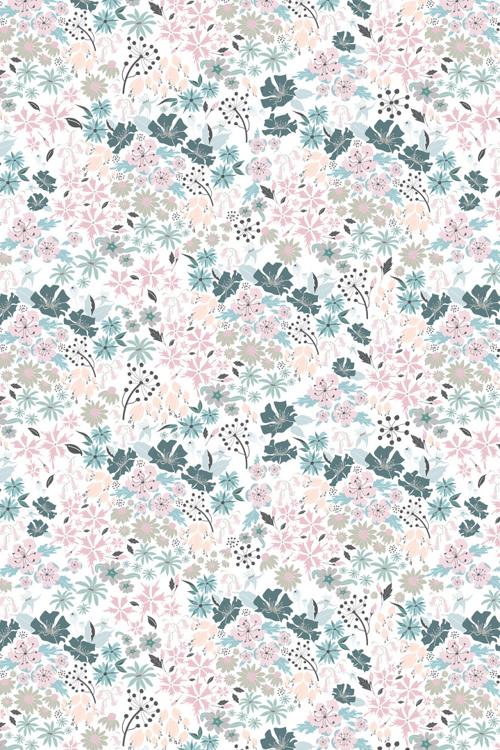 Surface Pattern Design Primrose and Mabel English Hedgerow