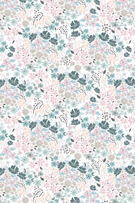Surface Pattern Design Primrose and Mabel English Hedgerow
