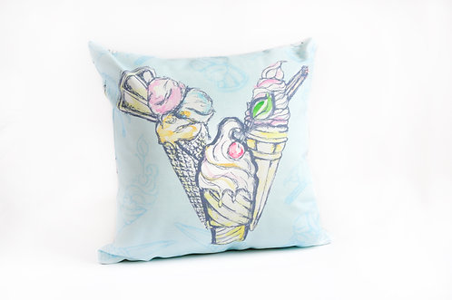 Ice Cream Linen Cushion