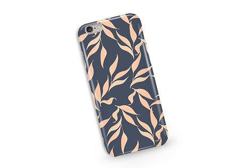 Tropical Leaves Phone Case in Grey