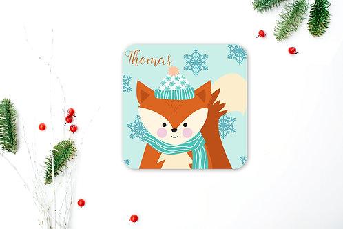 Fox Personalised Coaster
