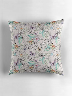 Watercolour Butterflies Cushion