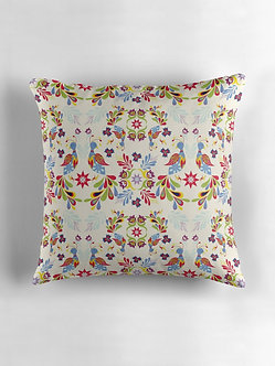 Fiesta Folk Cushion in Buttermilk