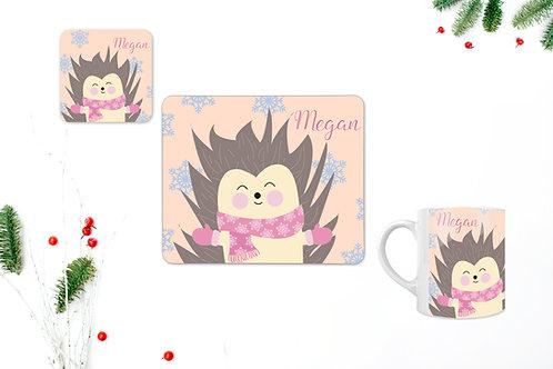 Hedgehog Personalised Table Set