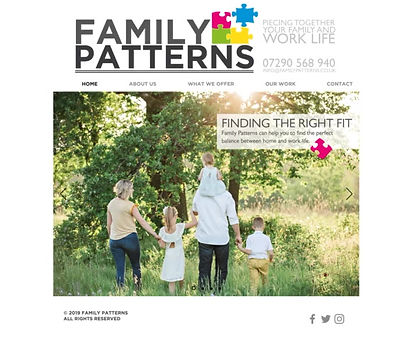 Family Patterns Website Design