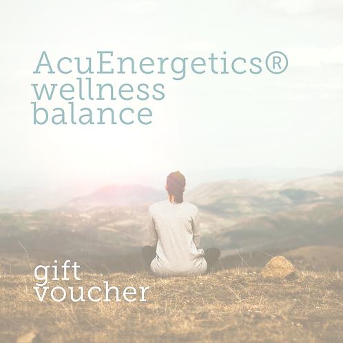 AcuEnergetics® Wellness Balance Gift Voucher