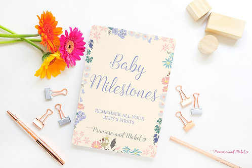 Baby Milestone Cards Gift Set - English Hedgerow