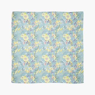 Tropical Flowers Scarf in Mint