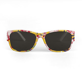 Stars and Stripes Sunglasses in Mustard