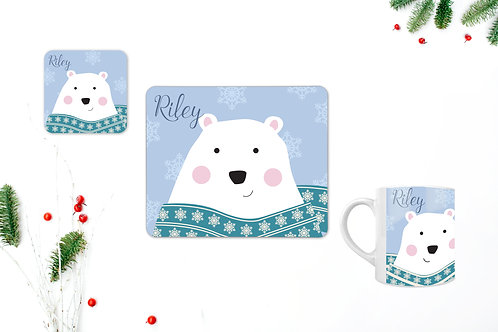 Polar Bear Personalised Table Set
