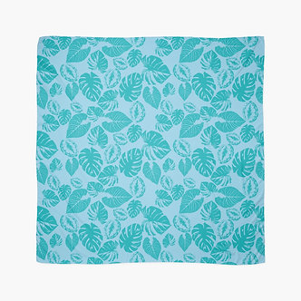 Safari Leaves Scarf in Turquoise