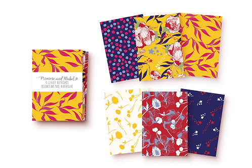 Mini Notecard Set - Red & Mustard