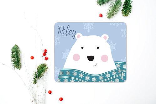 Polar Bear Personalised Place Mat