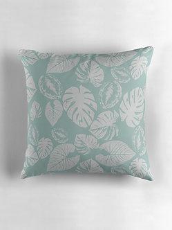 Safari Leaves Cushion in Sage