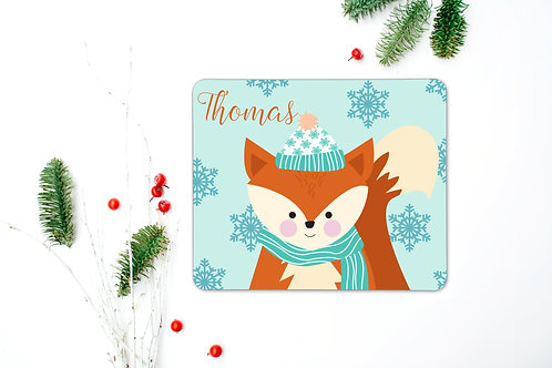 Fox Personalised Place Mat