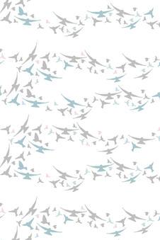 Surface Pattern Design Primrose and Mabel Flying Birds