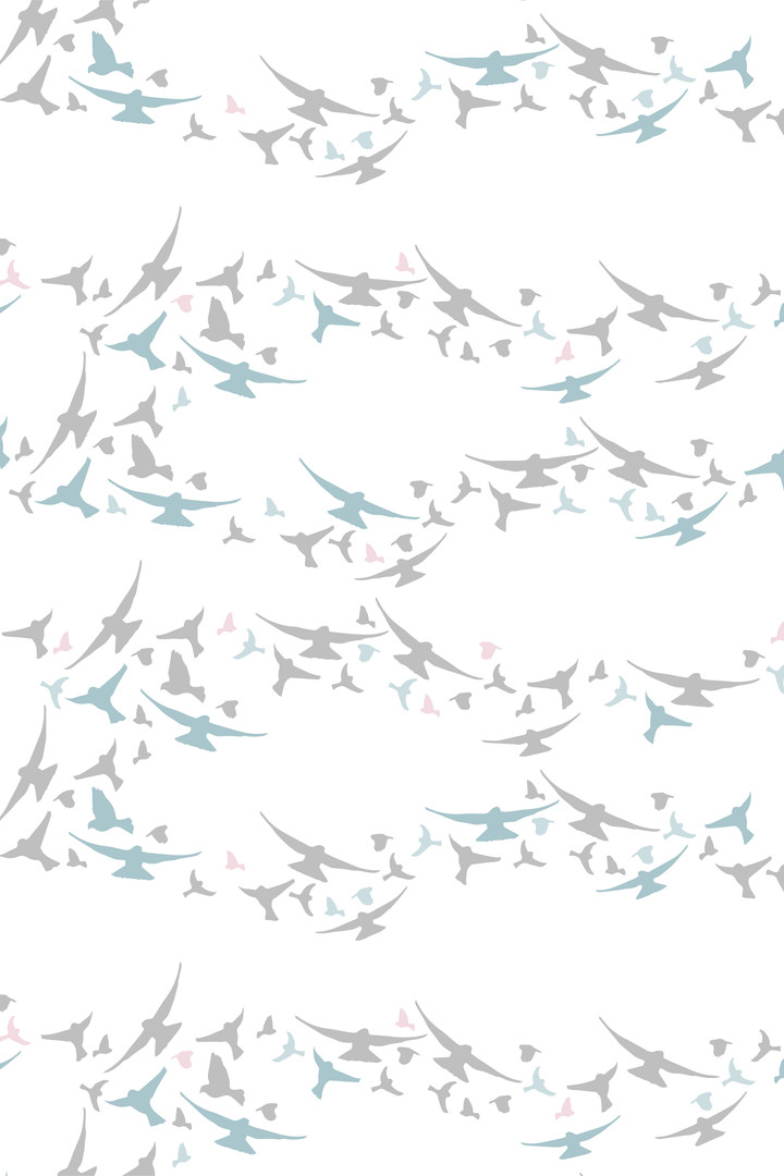 Surface Pattern Design Primrose and Mabel Flying Birds