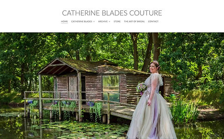 Catherine Blades Couture Website Design