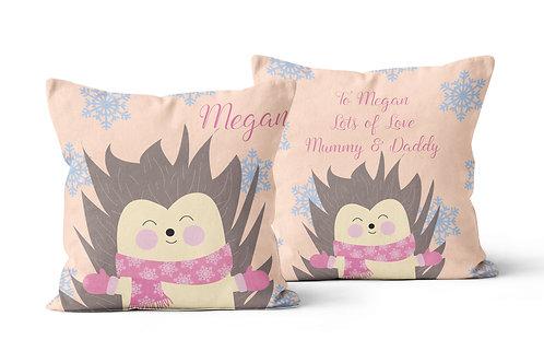 Hedgehog Personalised Cushion