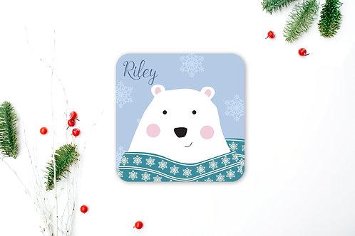 Polar Bear Personalised Coaster