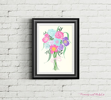 Vintage Bouquet A4 Art Print