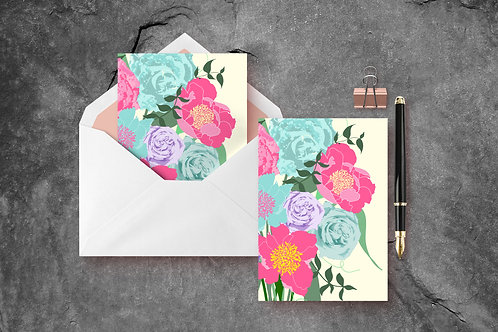 Vintage Bouquet A6 Greetings Card