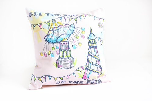 'All The Fun Of The Fair' Linen Cushion