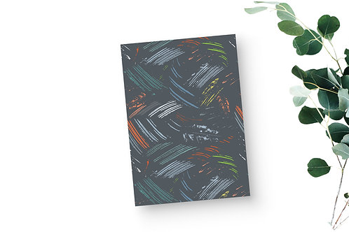 Lined Notebook - Leaf Markings in Grey