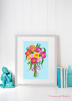 Spring Bouquet A4 Art Print