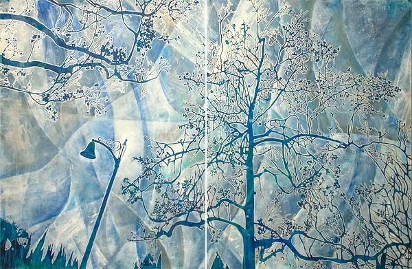 Winter Plane Tree Abstract ( 2 Panels ea