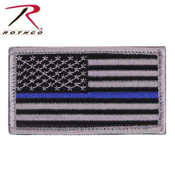 Rothco Thin Blue Line Police U.S. Flag Patch - Hook Back