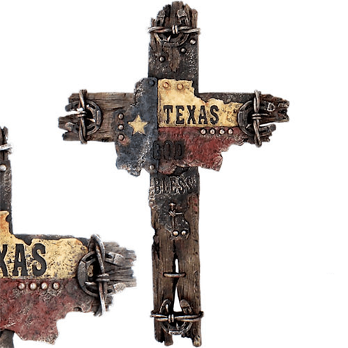 TEXAS FLAG WOOD CROSS