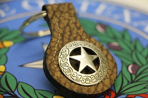 Silver Texas Star Keychain