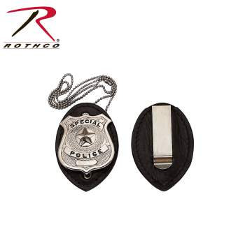 Rothco Leather Clip-On Badge Holder