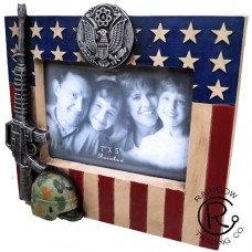 US FLAG ARMY 7X5 FRAME