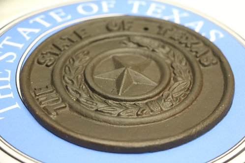 Cast Iron State of Texas Seal