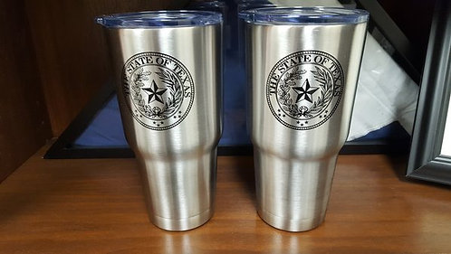 30oz RTIC Stainless Steel Cup with Texas Logo