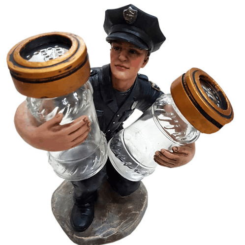 POLICE SALT & PEPPER  HOLDER